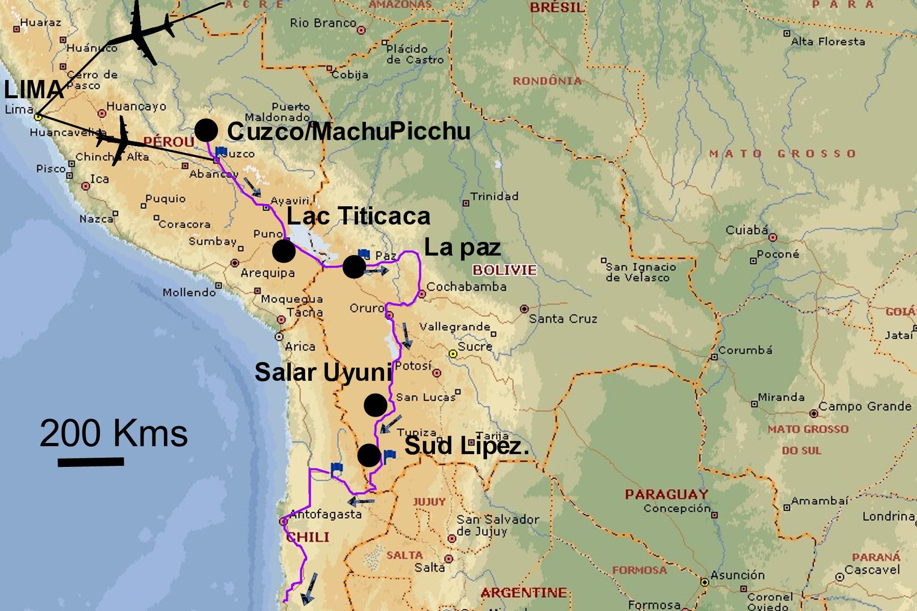 voyage chili bolivie
